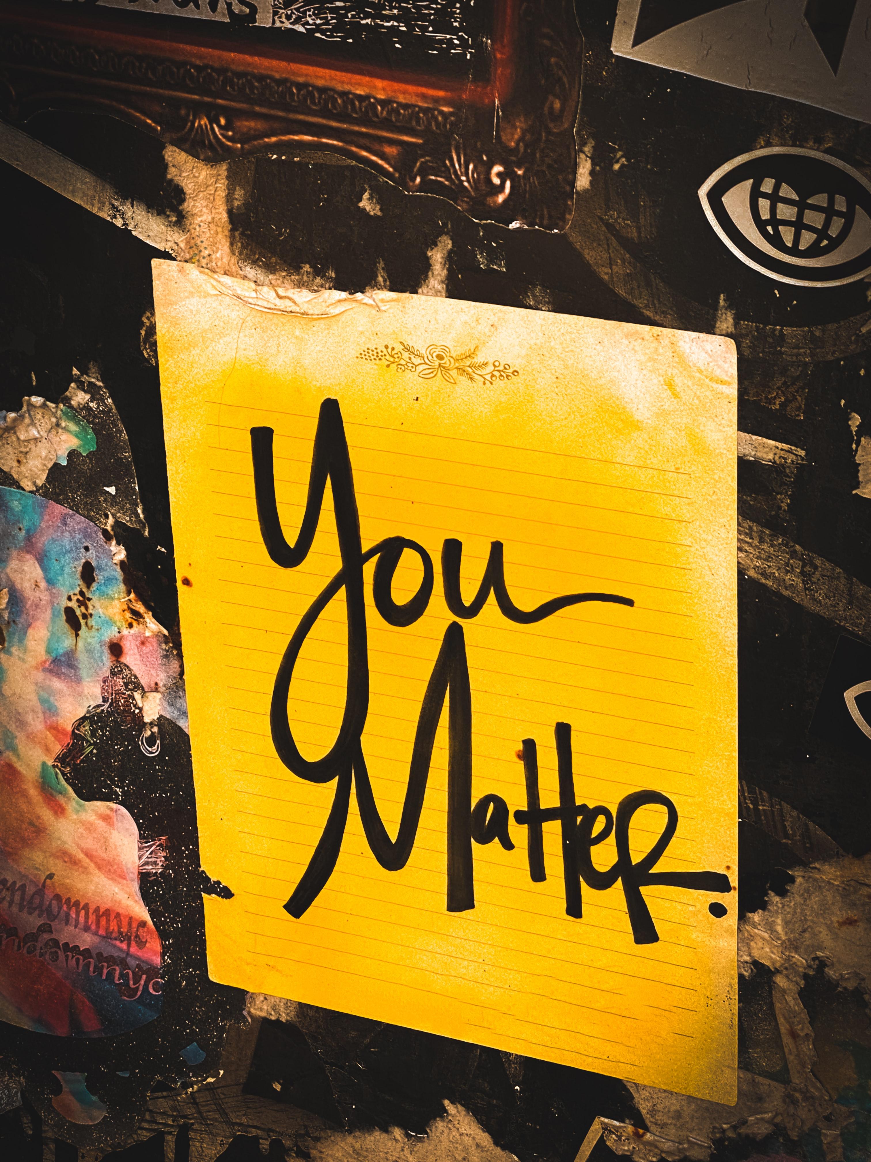 you matter self care
